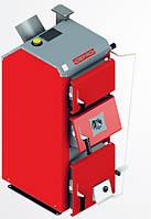 Котел твердотопливный DEFRO BN 39 кВт. красно-серый