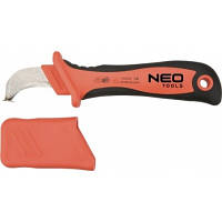 Нож  монтерский изогнутый с пяткой для снятия изоляции. Neo 01-551   .1000 В 190 мм .. Купить в Киеве.
