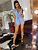 Коттоновый костюм в полоску (жилет с шортами), фото 4