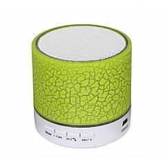 Колонка mini портативна GETIHU світлодіодна з TF, USB FM Зелений