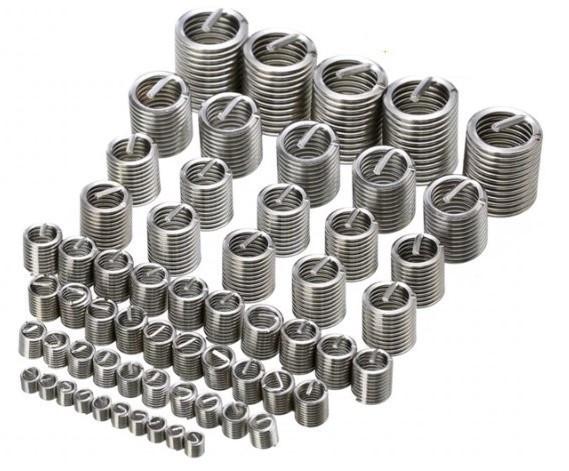 Набор из 60 резьбовых вставок ввертышей M3-M12 для восстановления резьбы