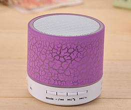Колонка mini портативна GETIHU світлодіодна з TF, USB FM Фіолетовий