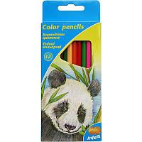 Карандаши цветные Kite Животные 12 штук