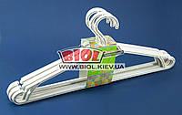 Набор 5шт. вешалок для одежды 44см (больших) пластиковых (цвет - белая роза) Алеана ALN-121073-1