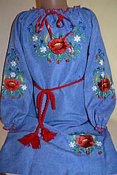 """Сукня вишиванка """"квіти"""" на дівчинку"""