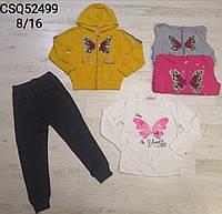 Трикотажный костюм-тройка для девочек Seagull оптом, 8-16 лет, Артикул: CSQ52499