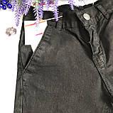 Штаны на мальчика 1/12 черные. Размеры  9 лет, 10 лет, 11 лет, 12 лет, фото 2