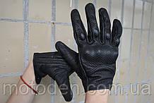 Кожаные мотоперчатки перфорированные Размер L (ширина руки без большого пальца - 8.5 - 9 см)