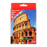 Карандаши цветные Kite Города 18 штук