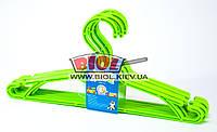Набор 5шт. вешалок для одежды 33см (малых) пластиковых (цвет - оливковый) Алеана ALN-121074-3