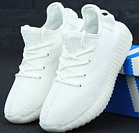 Женские кроссовки Adidas Yeezy Boost 350 White (Адидас Изи Буст белые) 37