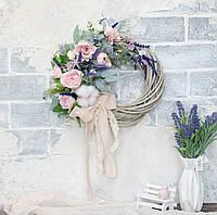 Венок ароматный с лавандой и розами, фото 1