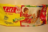 Влажные салфетки 100 шт. для детей с экстрактом календулы и витамином Е