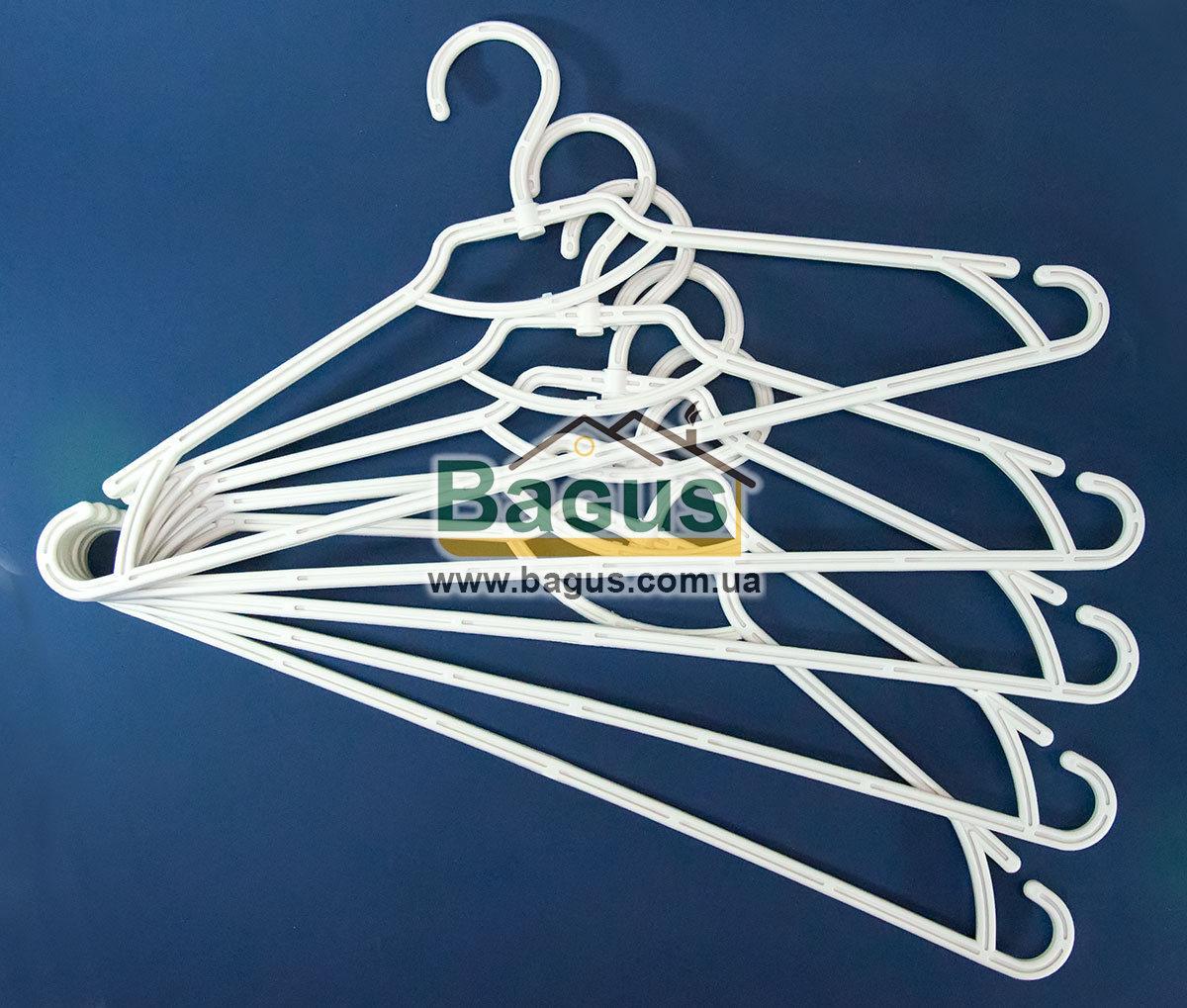 """Набір плічок (вішалок) для одягу 5шт. 44см пластик Біла Троянда """"Алеана"""" ALN-121073-1"""