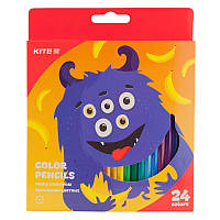 Карандаши цветные Kite Jolliers 24 штуки