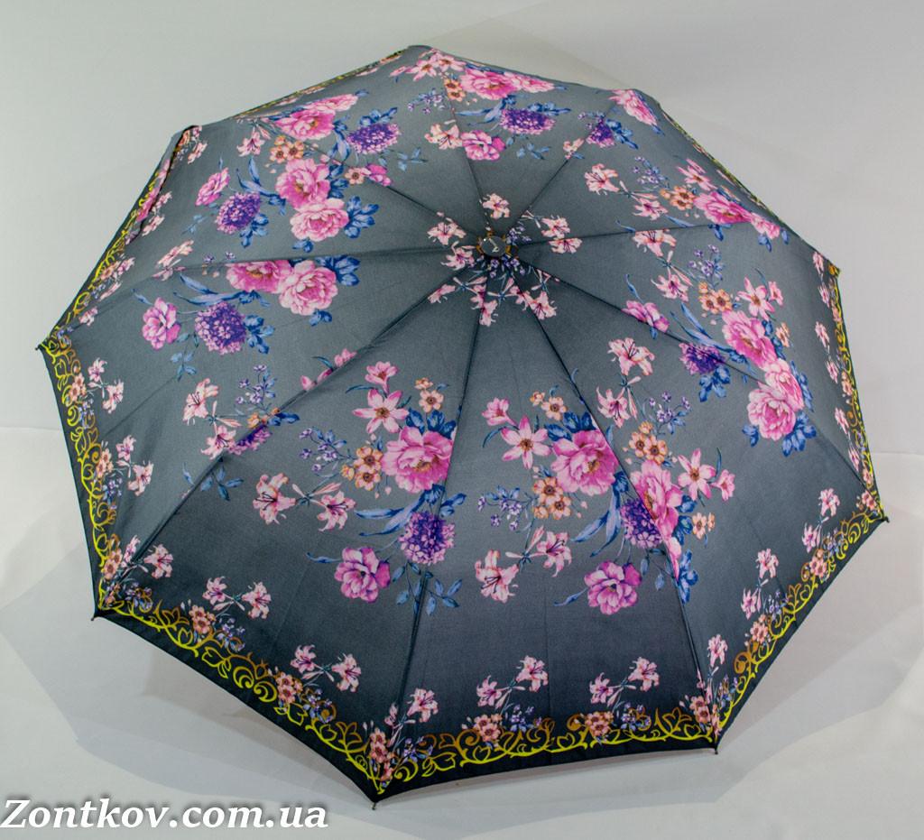 """Женский зонтик полуавтомат на 9 спиц от фирмы """"OVIDA""""."""