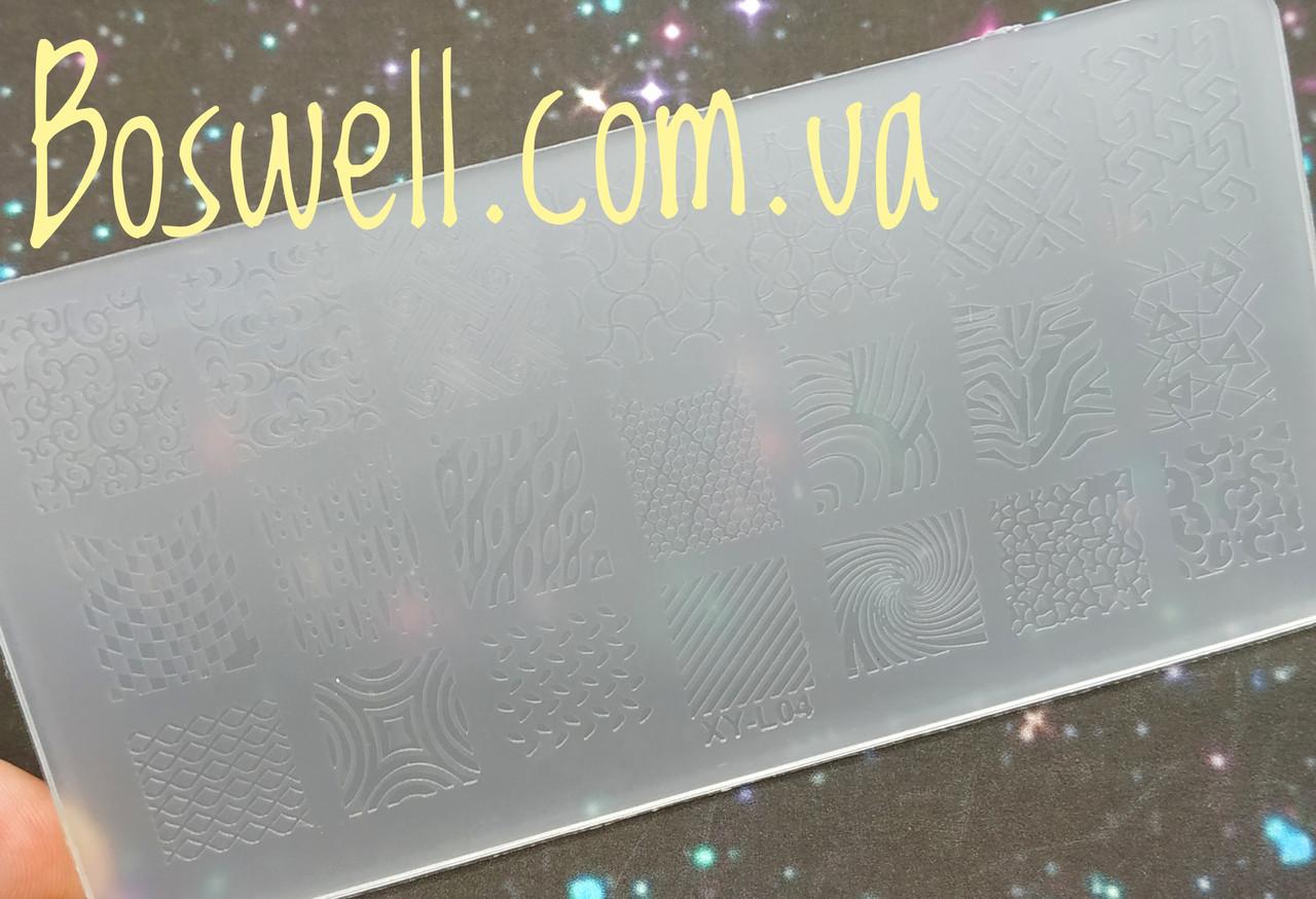 Пластиковая пластина для стемпинга XY-L04