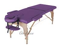 Раскладной деревянный массажный стол- teo, кушетка переносная 2-х секционная для массажа, для салона красоты