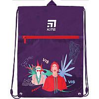 Сумка для обуви с карманом Kite Education Время и Стекло VIS19-601L-1