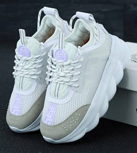 Женские кроссовки Versace Chain Reaction Sneakers White 41