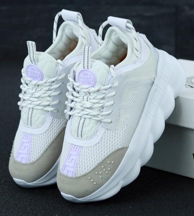 Женские кроссовки Versace Chain Reaction Sneakers White 41