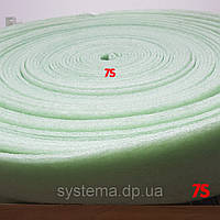 Демпферная лента 8х150 мм для стяжек и теплых полов из вспененного полиэтилена, рулон 50 м