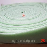 Демпферная лента 10х150 мм для стяжек и теплых полов из вспененного полиэтилена, рулон 50 м
