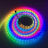 Лента цветная двуслойная силикон светодиодная IP65-RGB (60 светодиодов/метр)  SMD 5050, OLed Electric 65D-60