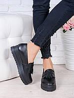 Женские туфли лоферы кожаные Maxi 6674-28