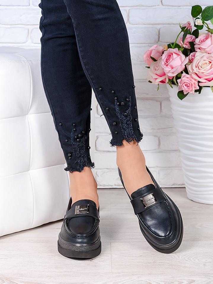 Женские туфли лоферы натуральная кожа Maxi 7002-28