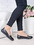 Туфли мокасины черная кожа 7023-28, фото 3