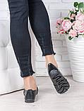 Туфли мокасины черная кожа 7023-28, фото 4