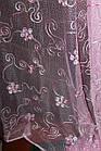 Готовая пошитая тюль сетка розовая 170*280 код 01492