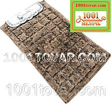 Набор из 100% хлопка из 2-х ковриков Alanur в ванную 100х60 см и туалет 50х60 см БЕЗ выреза под унитаз, Турция