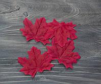 Осенний листочек малиново-вишневый 7 см 1 шт, фото 1