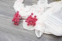 Искусственные ягоды шиповника красного 40 шт