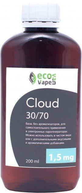 Eco Van Vape Cloud 30/70 200 мл 1,5мг - база для самозамесу рідин.