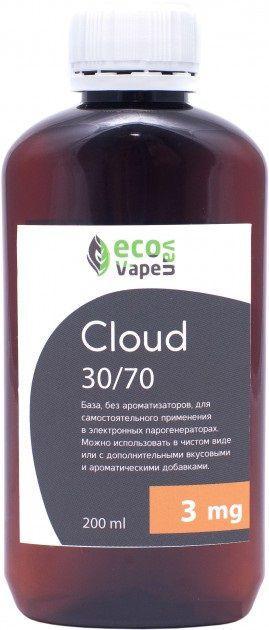Eco Van Vape Cloud 30/70 200 мл 3мг - база для самозамесу рідин.