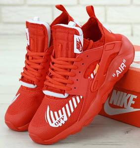 Мужские Кроссовки Off-White x Nike Air Huarache Ultra Red