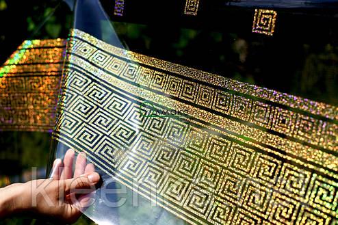Клеенка силиконовая прозрачная с голограммным рисунком в греческом стиле, фото 2