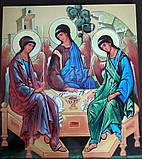Икона Святого Николая печать на пластике ПВХ, фото 3
