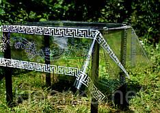 Клеенка силиконовая с голограммой на праздничный стол, прозрачная скатерть с рисунком в греческом стиле