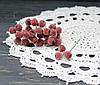Искусственные райские яблочки красные в сахаремал 3 шт
