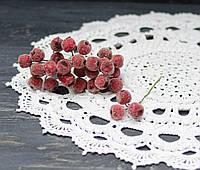 Искусственные райские яблочки красные в сахаремал 3 шт, фото 1