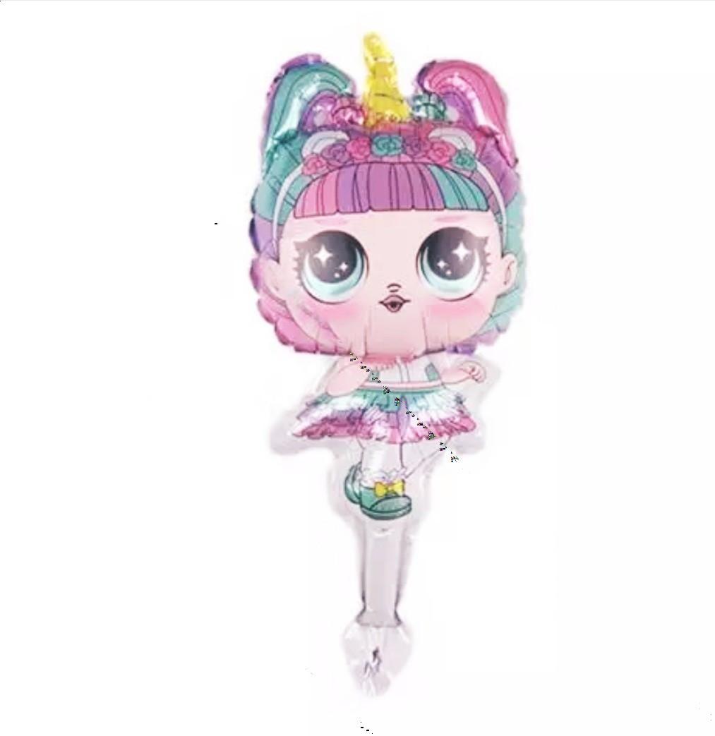 Фольгированный мини-шар фигура кукла L.O.L. Единорожка 40×22 см