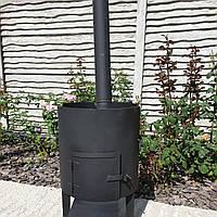 Печька (очаг, котел) с дымоходом под казан. Диаметр очага 38см.