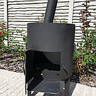 Очаг (печька,котел топка) с дымоходом и трубой. диаметр 46см. Идеально под казан 22л., фото 6