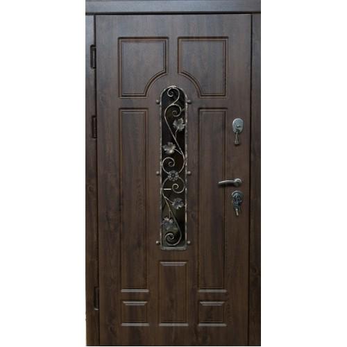 "Двери ""Very Dvery"" Арка с ковкой дуб бронзовый улица (серия «ВИП+)"