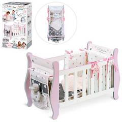 Кровать деревянная для куклы (Baby Born) TM DeCuevas арт. 54724