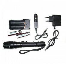 Тактический аккумуляторный фонарь с зумом Bailong Bl-8668-t6